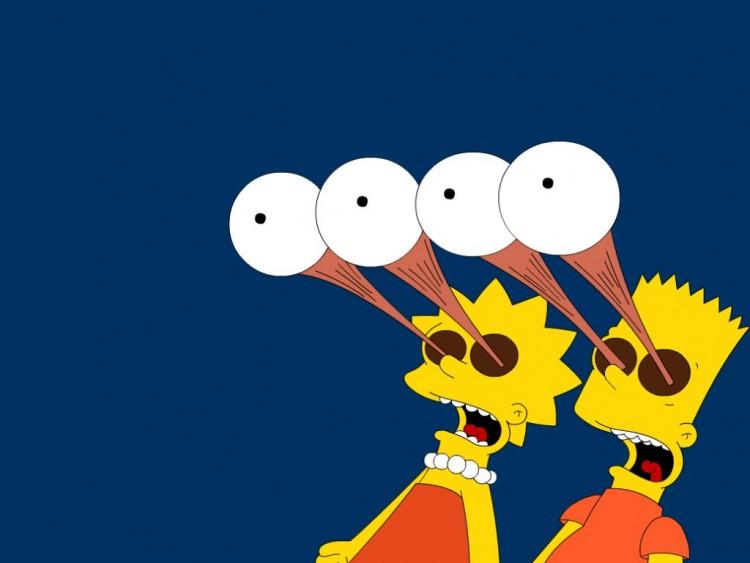 Wallpapers Cartoons Wallpapers The Simpsons Bart Et Lisa