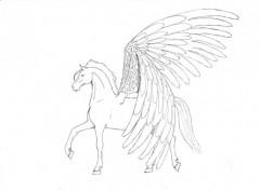 Fonds d'écran Art - Crayon Pégase