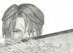 Wallpapers Art - Pencil FF VII Squall Leonhart