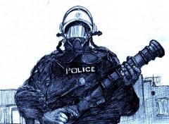 Fonds d'écran Art - Crayon Keuf Robocop