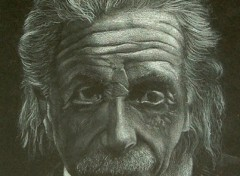 Fonds d'écran Art - Crayon Einstein portrait