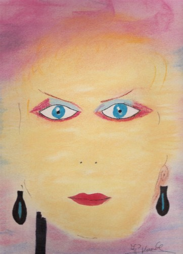 Fonds d'écran Art - Crayon Portraits visage