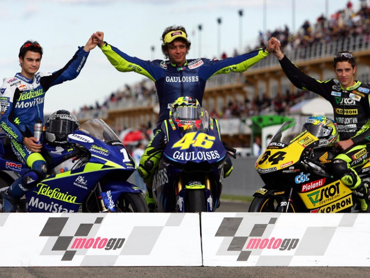 Wallpapers Motorbikes Grand prix les 3 champions du monde 2004