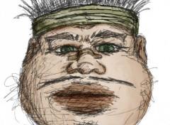 Fonds d'écran Art - Crayon Rugby Man