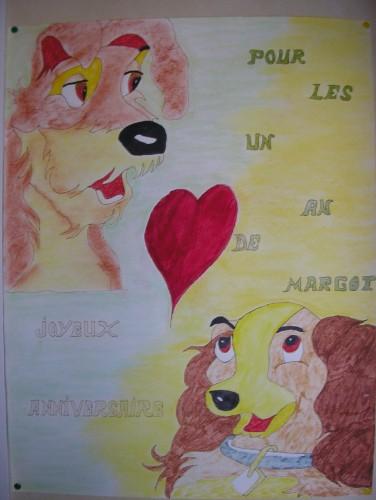 Fonds d'écran Art - Crayon Dessins animés - La belle et le clochard belle et le clochhard