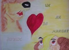 Fonds d'écran Art - Crayon belle et le clochhard