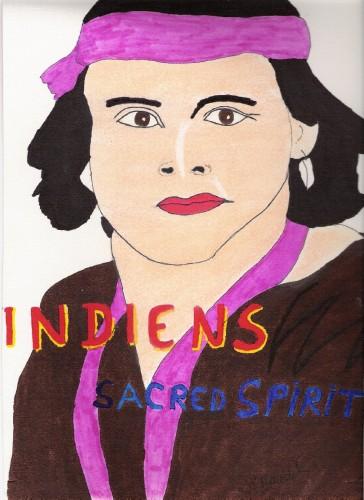 Fonds d'écran Art - Crayon Portraits indien