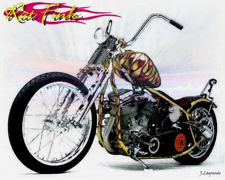 Fonds d'écran Motos Harley Davidson Rat Fink