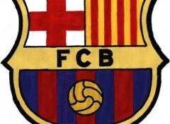 Fonds d'écran Art - Crayon Logo Fc Barcelone