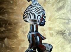 Fonds d'écran Art - Peinture Statuette