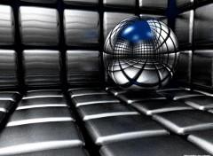 Fonds d'écran Art - Numérique Boule-Cube