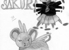 Wallpapers Art - Pencil Sakura-panique