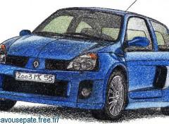 Fonds d'écran Art - Crayon Clio V6