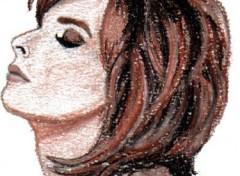 Fonds d'écran Art - Crayon Mylène Farmer