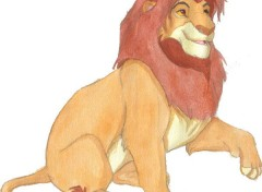 Wallpapers Art - Painting Le roi lion -- Symba