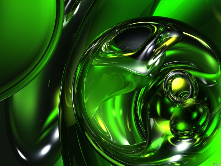 Wallpapers Digital Art Wallpapers Abstract Sphere Verte By Kavel Hebus Com