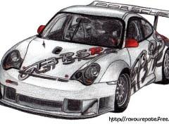 Fonds d'écran Art - Crayon Porsche 911 GT3 RS-R