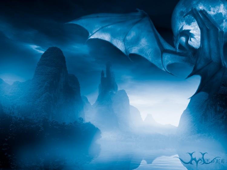 Fonds d'écran Fantasy et Science Fiction Créatures : Dragons The Nigthfall