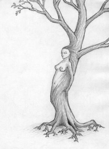 Wallpapers Art - Pencil Symbolism, Surrealism & onirism femme-arbre