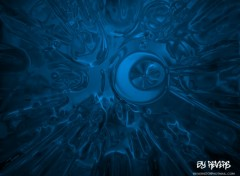 Wallpapers Digital Art Blue radial Effect-X