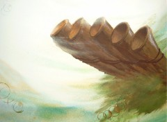 Fonds d'écran Art - Peinture flute de pan
