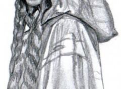 Fonds d'écran Art - Crayon Le Seigneur des Anneaux -- Galadrielle (Kate Blanchet)
