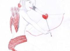 Fonds d'écran Art - Crayon Cupidon