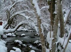 Fonds d'écran Nature rivière à la montagne