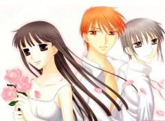 Fonds d'écran Manga Trio fleurs