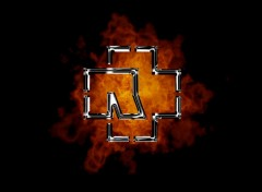 Wallpapers Music Rammstein Logo in fire