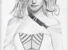 Fonds d'écran Art - Crayon Katie Holmes