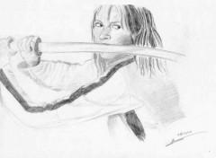 Fonds d'écran Art - Crayon Uma Thurman