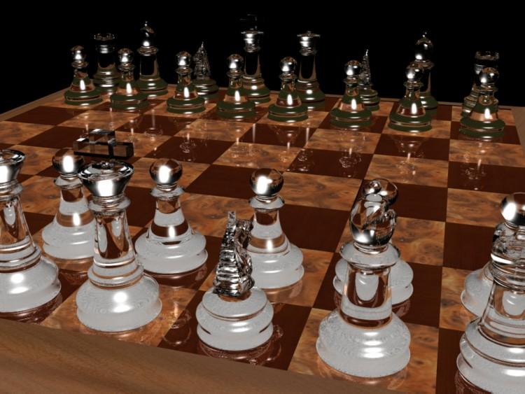 Fonds d'écran Art - Numérique 3D - Divers jeu d'echec 3d