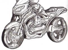 Fonds d'écran Art - Crayon moto vite fait!