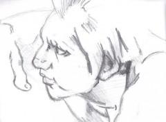 Fonds d'écran Art - Crayon Homme