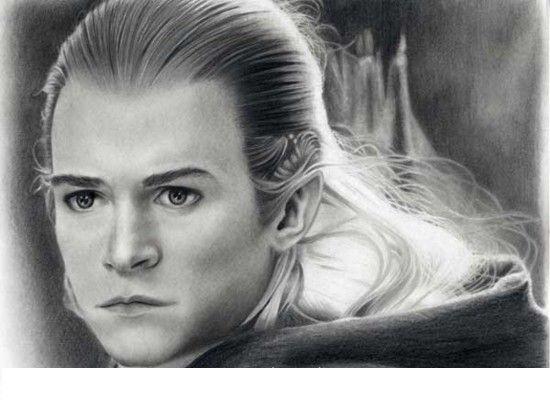 Fonds d'écran Art - Crayon Fantasy - Seigneur des anneaux orli.....