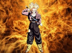 Fonds d'écran Manga trunks feu