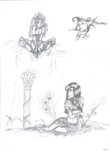 Fonds d'écran Art - Crayon BDs - Atalante Atalante
