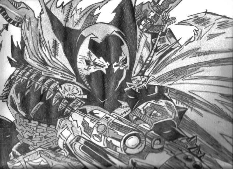 Fonds d'écran Art - Crayon BDs - Comics spawn sur grand format.