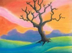 Fonds d'écran Art - Crayon arbre mort