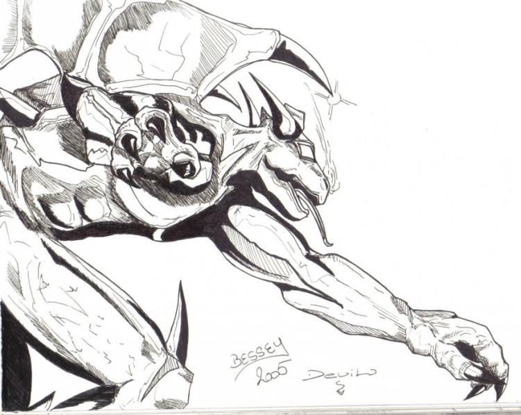 Fonds d'écran Art - Crayon Science-Fiction - Robots Devil