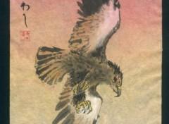 Fonds d'écran Art - Peinture aigle du soir