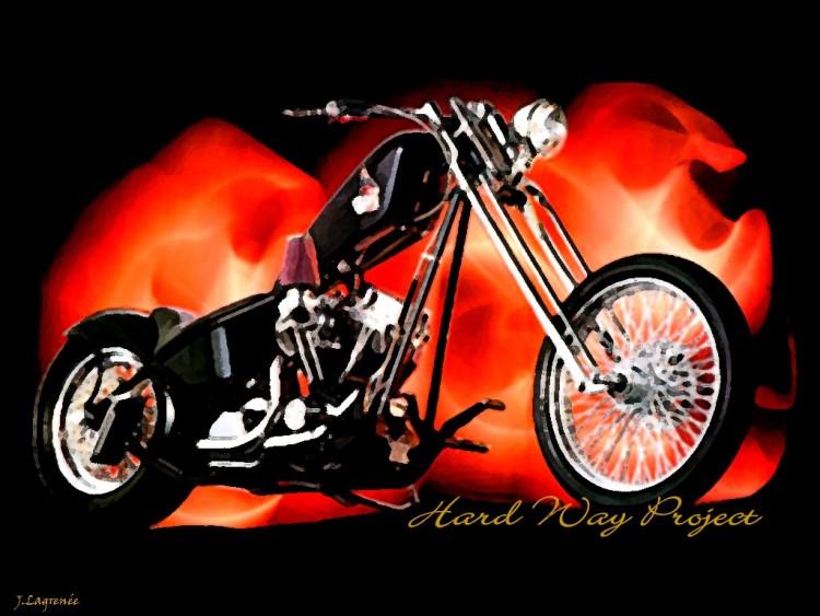 Wallpapers Motorbikes Harley Davidson Hard Way Project