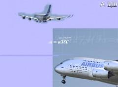 Fonds d'écran Avions A 380 - du projet au réel