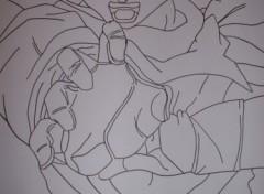 Fonds d'écran Art - Crayon trunks ssj1