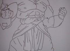 Fonds d'écran Art - Crayon broly guerrier légendaire