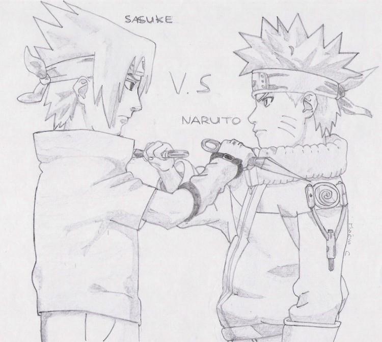 Wallpapers Art Pencil Wallpapers Manga Naruto Sasuke