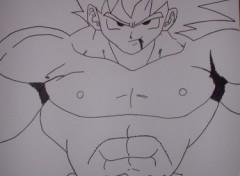 Fonds d'écran Art - Crayon goku ssj1