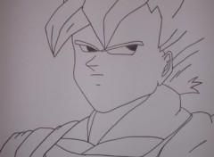 Fonds d'écran Art - Crayon goku sssj1