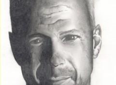 Fonds d'écran Art - Crayon Bruce Willis